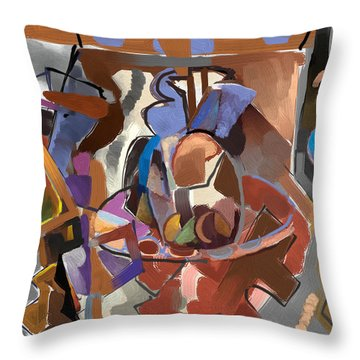 Throw Pillow featuring the digital art Spring Studio by Clyde Semler