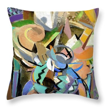 Throw Pillow featuring the digital art Spring Studio II by Clyde Semler