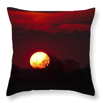 Spring Sunset Throw Pillow