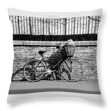 Throw Pillow featuring the photograph Spring Sunshine And Shadows In Black And White by Gill Billington