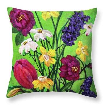 Spring Symphony Throw Pillow