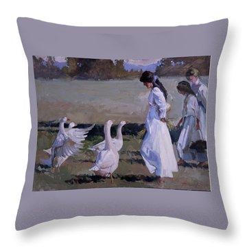 Spring Temptress Throw Pillow