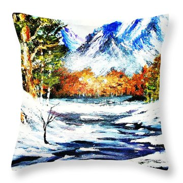 Spring Thaw Throw Pillow by Al Brown