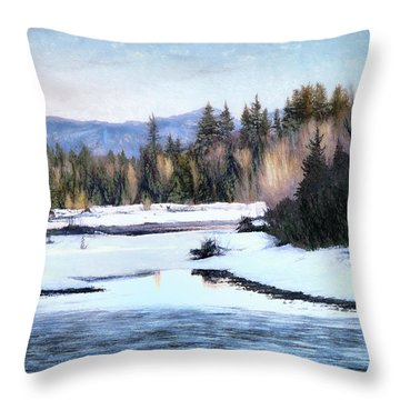 Tetons Spring Thaw Throw Pillow