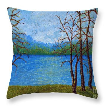 Spring Time In Arkansas Throw Pillow