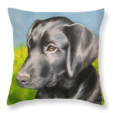 Throw Pillow featuring the painting Spring Time by Jindra Noewi