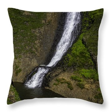 Spring Time Waterfall Throw Pillow