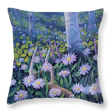 Spring Treasures Throw Pillow