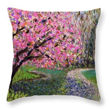 Spring Tree At New Pond Farm Throw Pillow