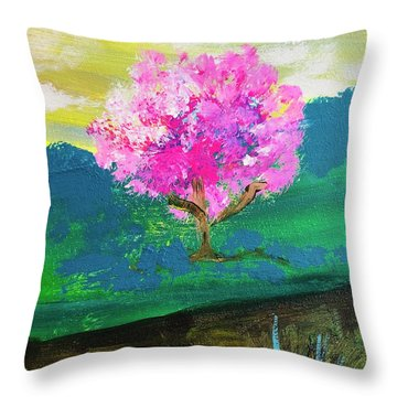 Spring Trip Throw Pillow