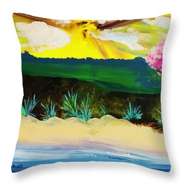 Spring Trip In Delaware Throw Pillow