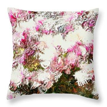Spring Tulip Tree Throw Pillow