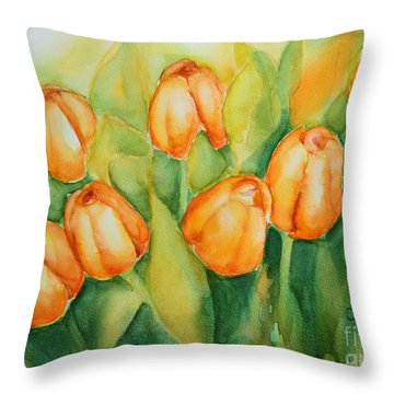 Spring Tulips 1 Throw Pillow