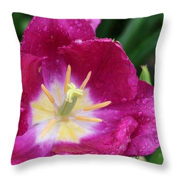 Spring Tulips 47 Throw Pillow