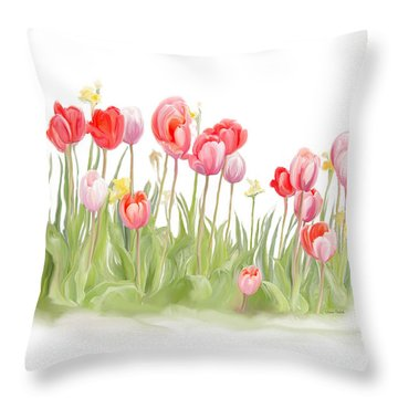 Spring Tulips II Throw Pillow