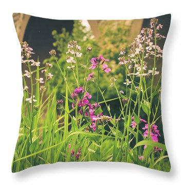 Throw Pillow featuring the photograph Spring Under The Arches by Viviana  Nadowski