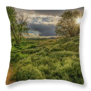 Spring Utopia Throw Pillow