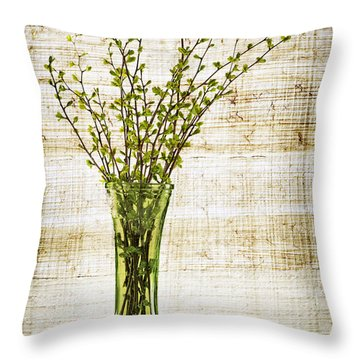 Spring Vase Throw Pillow