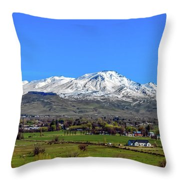 Throw Pillow featuring the photograph Spring View Of Squaw Butte by Robert Bales
