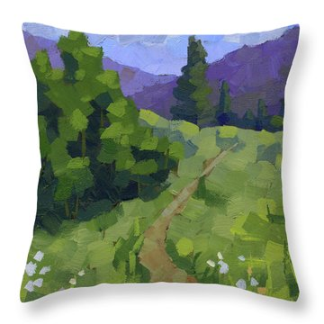 Spring Walk In The Mountains Throw Pillow