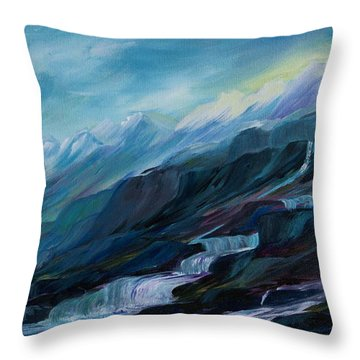 Spring Water Throw Pillow by Joanne Smoley
