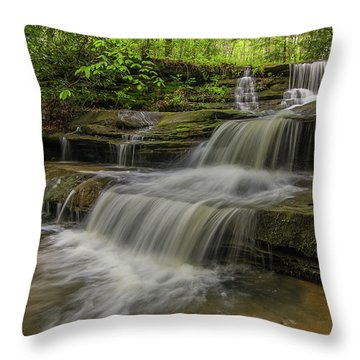 Spring Waterfall. Throw Pillow by Ulrich Burkhalter