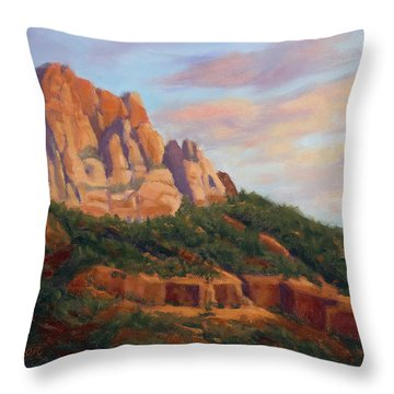 Springdale Sunset On Johnson Mountain Throw Pillow