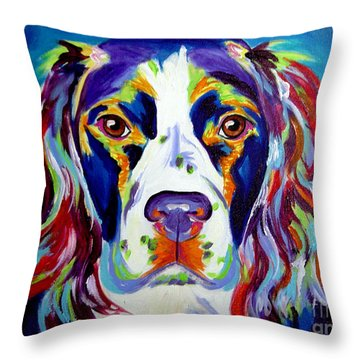 Springer Spaniel - Cassie Throw Pillow