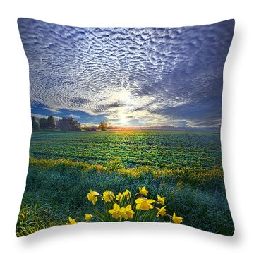 Springing To Life Throw Pillow