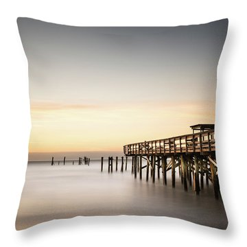 Springmaid Pier Mathew Aftermath Throw Pillow by Ivo Kerssemakers