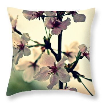 Spring's Delicate Dance Throw Pillow