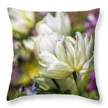 Spring's Fading Bouquet Throw Pillow