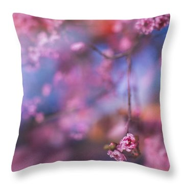 Spring's Rhythms Throw Pillow