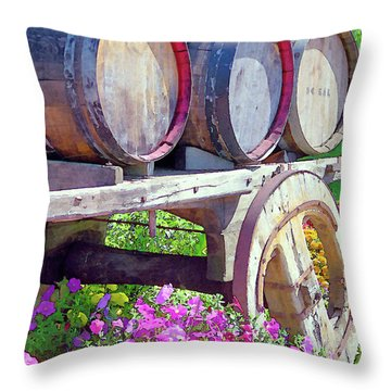 Springtime At V Sattui Winery St Helena California Throw Pillow