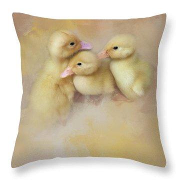 Springtime Babies Throw Pillow