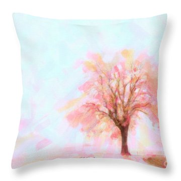 Throw Pillow featuring the painting Springtime by Chris Armytage