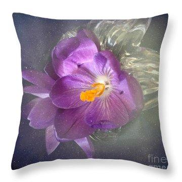 Springtime Crocus Throw Pillow