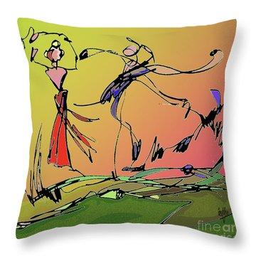 Springtime Dance Nine Throw Pillow