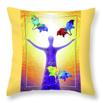 Springtime Throw Pillow by Hartmut Jager