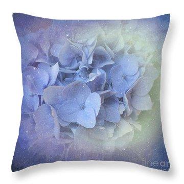 Springtime Hydrangea Throw Pillow