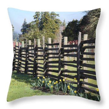Springtime In Anderson Valley Throw Pillow