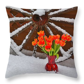 Springtime In Colorado Throw Pillow