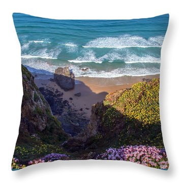 Springtime In Cornwall Throw Pillow