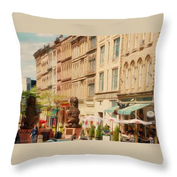 Springtime In Halifax Throw Pillow by Jeff Kolker