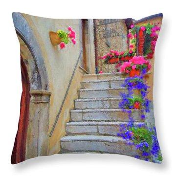 Springtime In Italy  Throw Pillow
