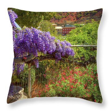 Springtime In Old Bisbee Arizona Throw Pillow