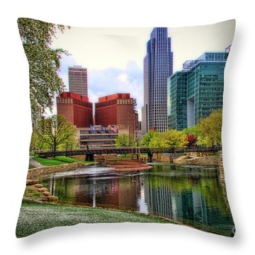 Springtime In Omaha Throw Pillow by Elizabeth Winter