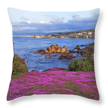 Springtime In Pacific Grove Throw Pillow