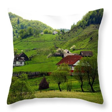 Throw Pillow featuring the photograph Springtime In Sirnea by Emanuel Tanjala