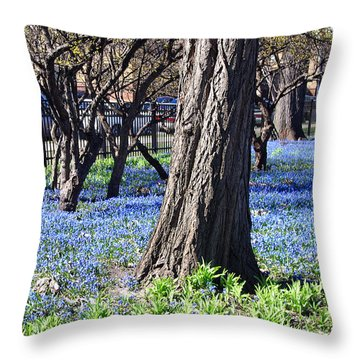 Springtime In The City Throw Pillow